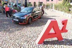 Grand Prix Nuvolari 2010. Details of Audi A1 in exhibition at Gran Premio Nuvolari, international regularity event for veteran cars in honour to famous italian Stock Photography