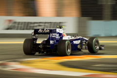 Grand Prix Singapore. Rubens Barrichello on Grand Prix Singapore 2010, Formula 1 night race - team Williams Stock Image