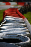 Grand Prix tyre wall. Taken at the Spa Grand Prix 2007 on the track Royalty Free Stock Images