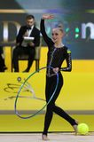 Grand prixDeriugina för rytmisk gymnastik kopp i Kyiv, Ukraina Arkivbilder