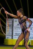 Grand prixDeriugina för rytmisk gymnastik kopp i Kyiv, Ukraina Royaltyfria Bilder