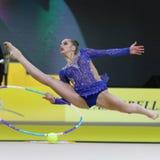 Grand prixDeriugina för rytmisk gymnastik kopp i Kyiv, Ukraina Arkivfoton
