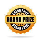 Grand prize gold medal Stock Photography