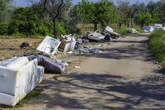 Grand problème de dégradation environnementale image stock