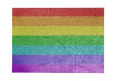Grand puzzle denteux de 1000 morceaux de drapeau d'arc-en-ciel Images libres de droits