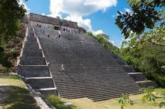 Grand Pyramid, Mayan ruins, Yucatan Mexico. The Grand Pyramid at Archaeological Unesco heritage site of Uxmal, Yucatan peninsula, Mexico. Ancient Mayan ruins stock photography