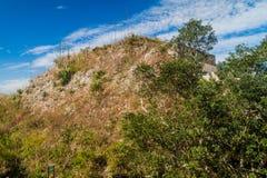 Grand Pyramid at the ruins of the ancient Mayan city Uxmal, Mexi. Co stock images