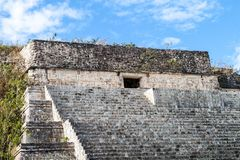 Grand Pyramid in the ruins of the ancient Mayan city Uxmal, Mexi. Co stock photo