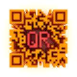 Grand QR-code de couleur illustration stock
