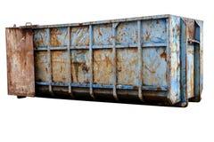 Grand récipient de déchets d'isolement photographie stock libre de droits