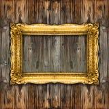 Grand rétro cadre de tableau de vieil or Images libres de droits