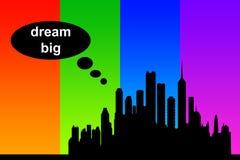 Grand rêveur illustration libre de droits