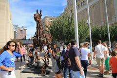 Grand Rapids, Μίτσιγκαν κεντρικός, ArtPrize Στοκ φωτογραφία με δικαίωμα ελεύθερης χρήσης