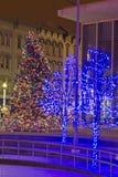 Grand Rapids Christmas Tree 2013. Christmas Lights and Christmas tree in Grand Rapids MI Royalty Free Stock Photos