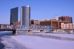 Grand Rapids da baixa, MI fotografia de stock royalty free
