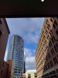 Grand Rapids do centro com Jw Marriott Fotos de Stock