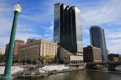 Grand Rapids i stadens centrum Michigan Royaltyfri Foto