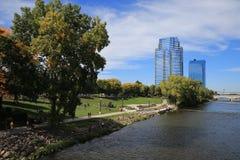 Grand Rapids i stadens centrum Michigan, ArtPrize Fotografering för Bildbyråer
