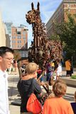 Grand Rapids i stadens centrum Michigan, ArtPrize Arkivbild