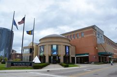 Van Andel Museum Center in Grand Rapids. GRAND RAPIDS, MI / USA - OCTOBER 15, 2017:  The Van Andel Museum, shown here, includes a planetarium and a carousel Royalty Free Stock Images