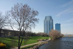 Grand Rapids, Michigan Stock Foto's
