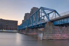 Grand Rapids Michigan. Blue Bridge in Grand Rapids Michigan Stock Images