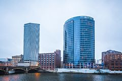 Grand rapids michigan city skyline and street scenes Stock Photography