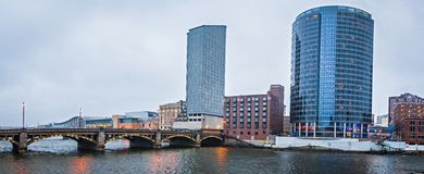 Grand rapids michigan city skyline and street scenes Royalty Free Stock Photos