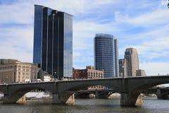 Grand Rapids, Michigan del centro fotografie stock libere da diritti