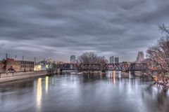 Grand Rapids Michigan Skyline Stock Photo