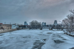 Grand Rapids Michigan Skyline in the Winter royalty free stock photos