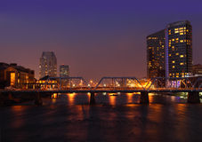 Grand Rapids stad Arkivfoto