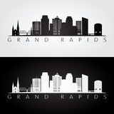Grand Rapids USA skyline and landmarks silhouette Royalty Free Stock Photography