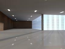 Grand rendu léger vide du hall 3D illustration stock