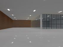 Grand rendu léger vide du hall 3D illustration de vecteur