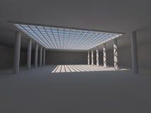 Grand rendu léger vide du hall 3D illustration libre de droits