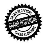 Grand reopening stamp Stock Photo
