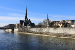 The Grand River along Cambridge, Canada. Grand River along Cambridge, Canada Royalty Free Stock Images