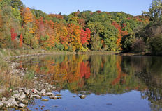 Grand River Fall Reflection Royalty Free Stock Photography