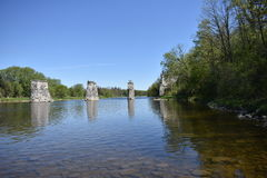 Grand River Paris Ontario Stock Photo