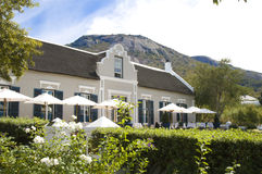 Grand Roche, Paarl. Entrance and terrace of the Hotel Grand Roche, Paarl Stock Photo