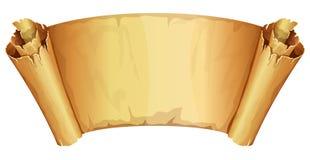 Grand rouleau d'or de parchemin Photos stock
