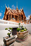 Grand Royal Palace with bonsai tree garden Stock Photo