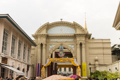The grand royal palace and Temple of the Emerald Buddha in Bangkok Royalty Free Stock Photos