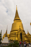 The grand royal palace and Temple of the Emerald Buddha in Bangkok Stock Image