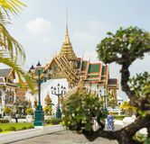 The grand royal palace and Temple of the Emerald Buddha in Bangkok Royalty Free Stock Photos