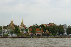 The grand royal palace and Temple of the Emerald Buddha in Bangkok Royalty Free Stock Photography