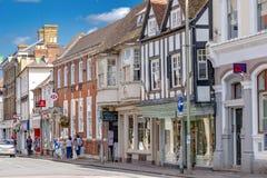 Grand-rue dans Farnham Photographie stock