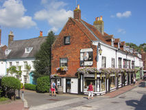 Grand-rue de Cliffe, Lewes, le Sussex est, Angleterre, R-U Photo stock