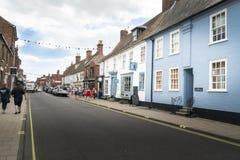 Grand-rue de Southwold, Suffolk, R-U photo libre de droits